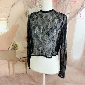 NEW Marciano Black Lace Top Blouse